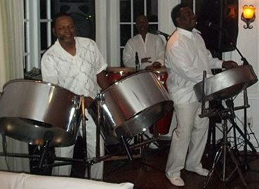 Steel Drum Band at All White Rehearsal Dinner Party, RythmTrail Steel Drum Band at an All White pre-wedding party in Captiva Florida